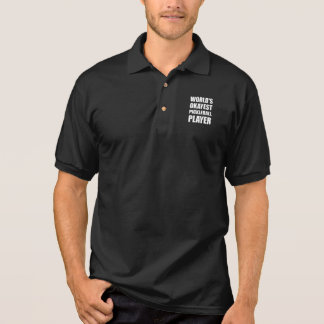 Worlds Okayest Pickleball Player Funny Polo Shirt