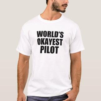 World's Okayest Pilot funny men's shirt