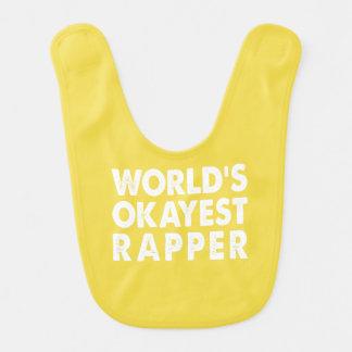 World's Okayest Rapper Bib