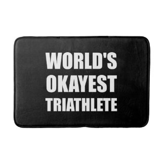 World's Okayest Triathlete Bath Mats