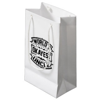 World's Okayest Uncle Small Gift Bag