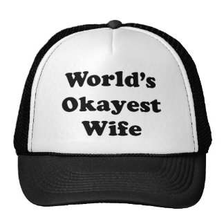Worlds Okayest Wife Cap