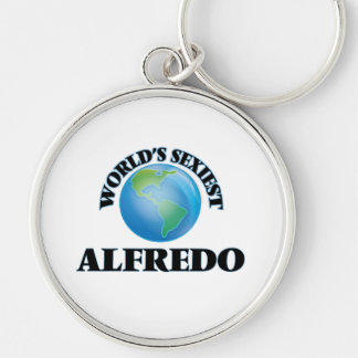 World's Sexiest Alfredo Silver-Colored Round Key Ring