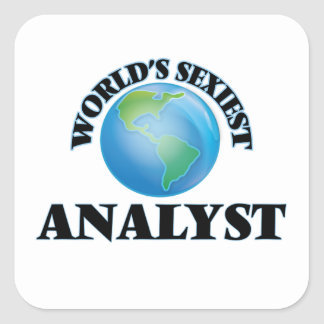World's Sexiest Analyst Square Sticker