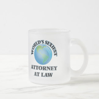 World's Sexiest Attorney At Law Frosted Glass Mug