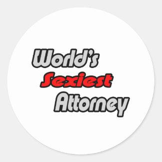 World's Sexiest Attorney Round Sticker
