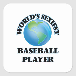 World's Sexiest Baseball Player Square Sticker