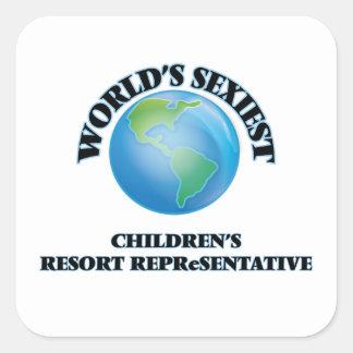 World's Sexiest Children's Resort Representative Square Sticker