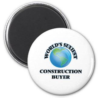 World's Sexiest Construction Buyer 6 Cm Round Magnet