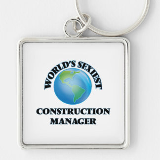 World's Sexiest Construction Manager Keychain