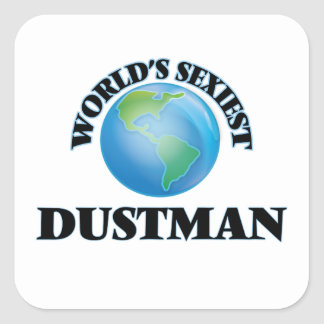World's Sexiest Dustman Square Sticker
