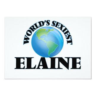 World's Sexiest Elaine 13 Cm X 18 Cm Invitation Card