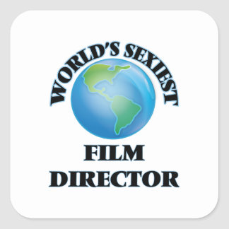 World's Sexiest Film Director Square Stickers