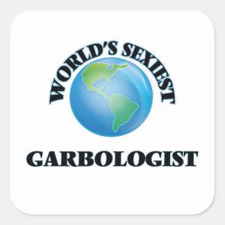 World's Sexiest Garbologist Square Sticker