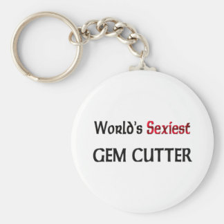 World's Sexiest Gem Cutter Basic Round Button Key Ring