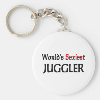 World's Sexiest Juggler Basic Round Button Key Ring