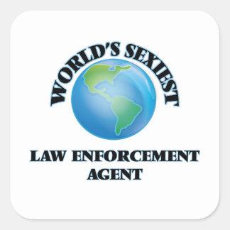 World's Sexiest Law Enforcement Agent Square Stickers