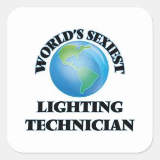 World's Sexiest Lighting Technician Square Sticker