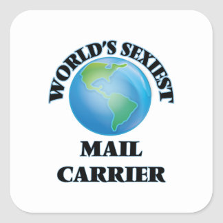 World's Sexiest Mail Carrier Square Sticker