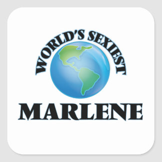 World's Sexiest Marlene Square Stickers