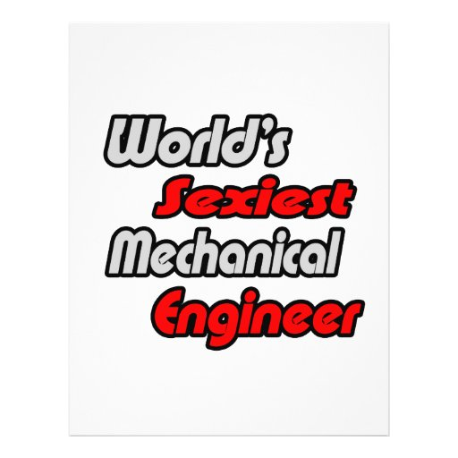 World's Sexiest Mechanical Engineer Flyers