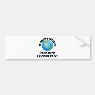 World's Sexiest Pensions Consultant Bumper Stickers