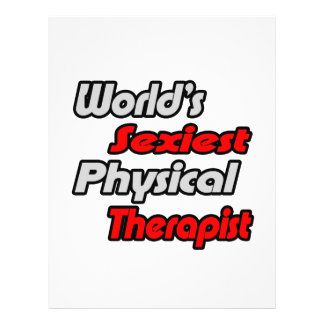 World's Sexiest Physical Therapist 21.5 Cm X 28 Cm Flyer