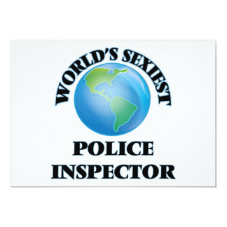 World's Sexiest Police Inspector Personalized Invites