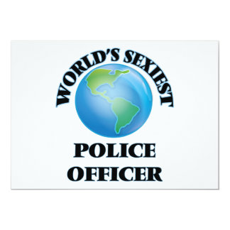 World's Sexiest Police Officer Invite