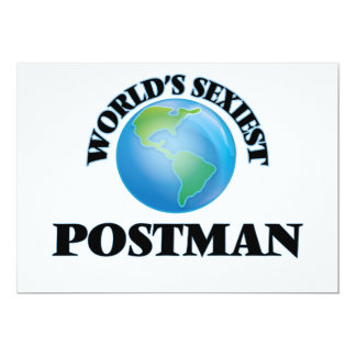 World's Sexiest Postman Personalized Invitation