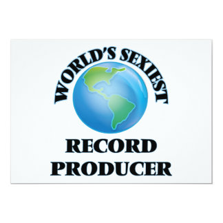 World's Sexiest Record Producer Personalized Invites