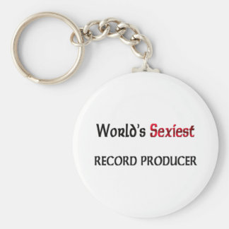 World's Sexiest Record Producer Basic Round Button Key Ring