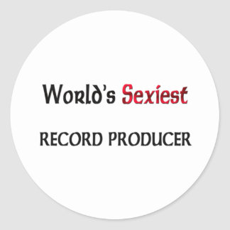 World's Sexiest Record Producer Round Stickers