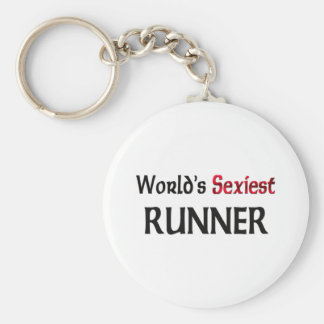 World's Sexiest Runner Basic Round Button Key Ring