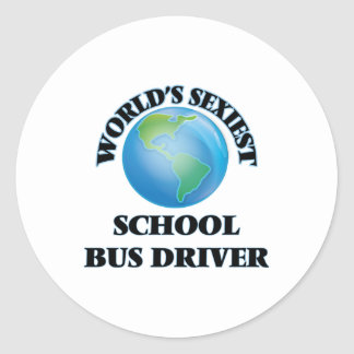 World's Sexiest School Bus Driver Stickers