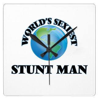 World's Sexiest Stunt Man Square Wallclocks