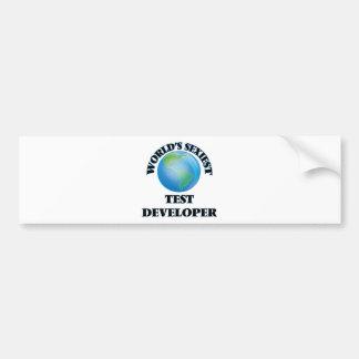 World's Sexiest Test Developer Bumper Sticker