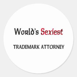 World's Sexiest Trademark Attorney Round Sticker
