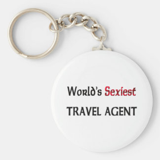 World's Sexiest Travel Agent Basic Round Button Key Ring