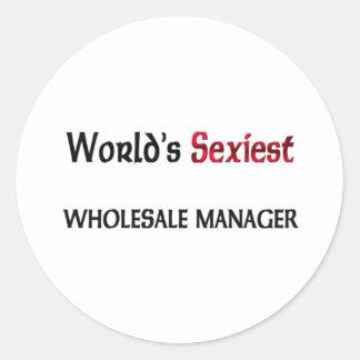 World's Sexiest Wholesale Manager Round Sticker