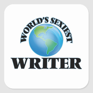 World's Sexiest Writer Square Sticker