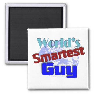 World's Smartest Guy Square Magnet