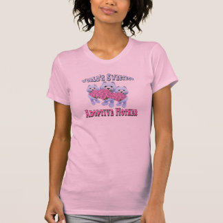 Worlds Sweetest  Adoptive Mother Mothers Day Gifts T-Shirt