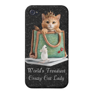World's Trendiest Crazy Cat Lady Princess Kitten iPhone 4/4S Cover