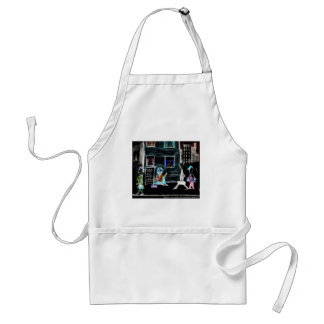 World's Unfunniest Cartoon On Funny Gifts & Tees Apron