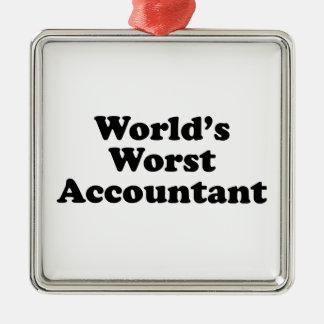 World's Worst Accountant Metal Ornament
