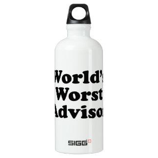 World's Worst Advisor Water Bottle