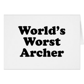 World's Worst Archer Card