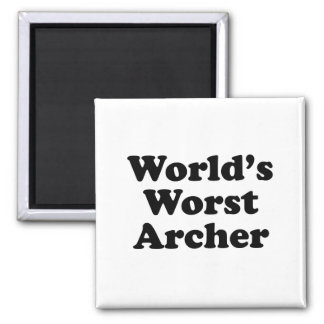 World's Worst Archer Magnet