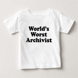 Worlds' Worst Archivist Baby T-Shirt